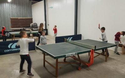 Tennis de table U13 enfants Entraînements